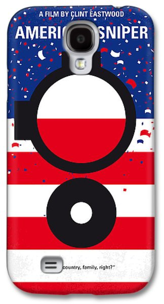 Iraq Galaxy S4 Cases - No435 My American Sniper minimal movie poster Galaxy S4 Case by Chungkong Art