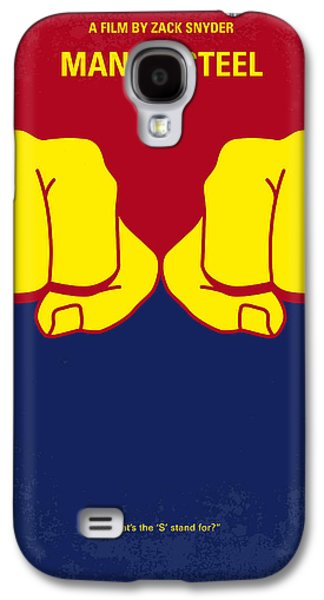 Steel Galaxy S4 Cases - No447 My Men of steel minimal movie poster Galaxy S4 Case by Chungkong Art