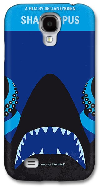 No485 My Sharktopus Minimal Movie Poster Galaxy S4 Case by Chungkong Art