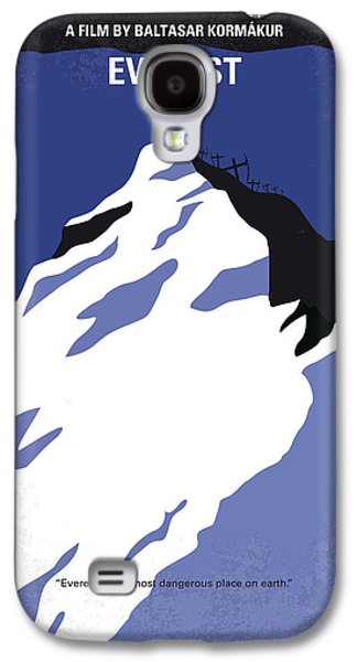 Storm Digital Galaxy S4 Cases - No492 My Everest minimal movie poster Galaxy S4 Case by Chungkong Art
