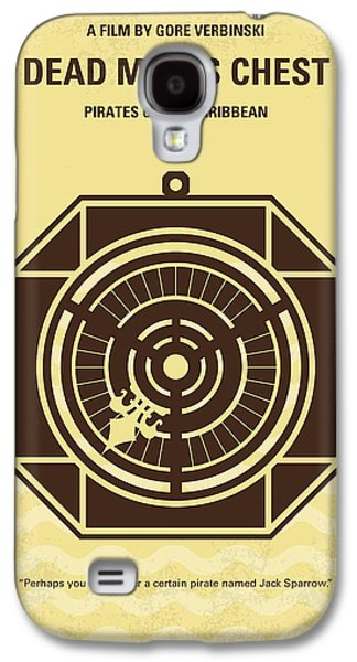 Pirates Galaxy S4 Cases - No494-2 My Pirates of the Caribbean II minimal movie poster Galaxy S4 Case by Chungkong Art