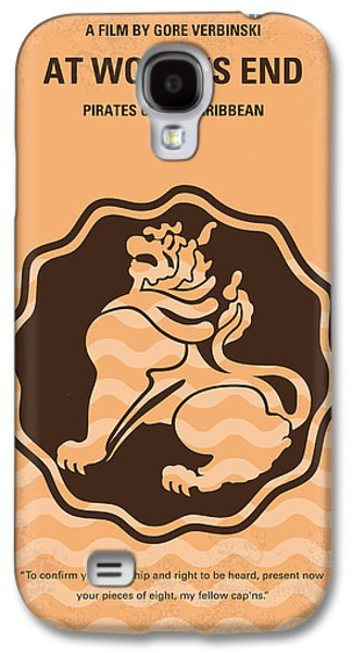 Pieces Galaxy S4 Cases - No494-3 My Pirates of the Caribbean III minimal movie poster Galaxy S4 Case by Chungkong Art