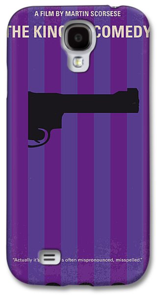 King Galaxy S4 Cases - No496 My The King of Comedy minimal movie poster Galaxy S4 Case by Chungkong Art