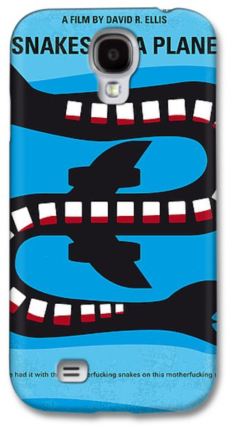 No501 My Snakes On A Plane Minimal Movie Poster Galaxy S4 Case by Chungkong Art
