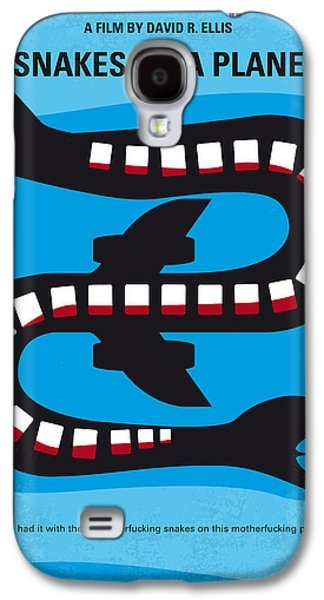 Posters On Digital Galaxy S4 Cases - No501 My Snakes on a Plane minimal movie poster Galaxy S4 Case by Chungkong Art