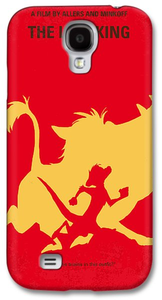 Animation Galaxy S4 Cases - No512 My The Lion King minimal movie poster Galaxy S4 Case by Chungkong Art