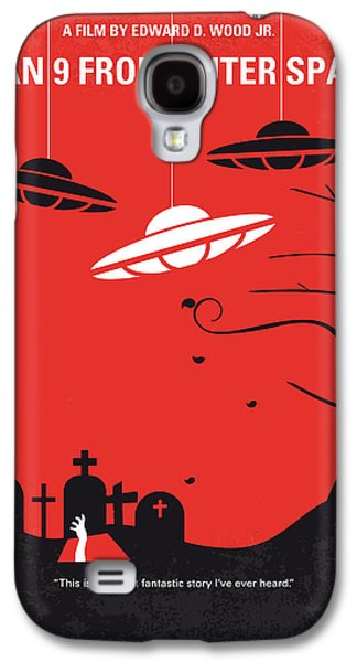 No518 My Plan 9 From Outer Space Minimal Movie Poster Galaxy S4 Case by Chungkong Art