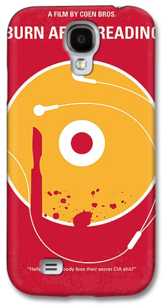 No547 My Burn After Reading Minimal Movie Poster Galaxy S4 Case by Chungkong Art