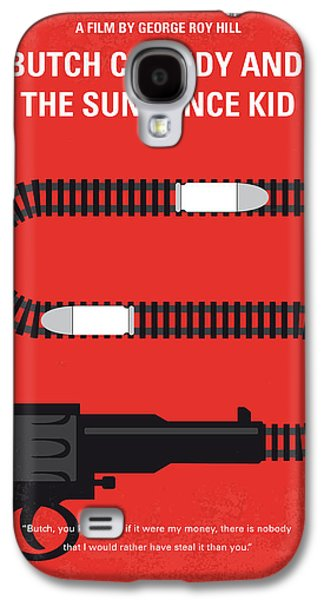 No585 My Butch Cassidy And The Sundance Kid Minimal Movie Poster Galaxy S4 Case by Chungkong Art