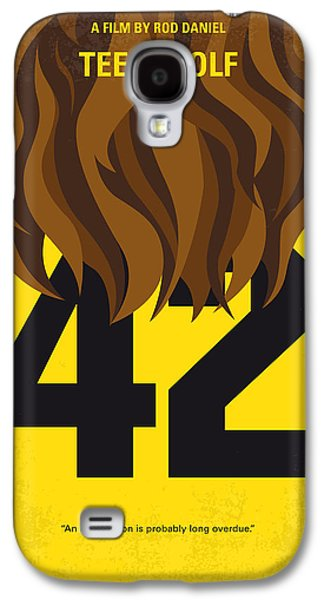 No607 My Teen Wolf Minimal Movie Poster Galaxy S4 Case by Chungkong Art
