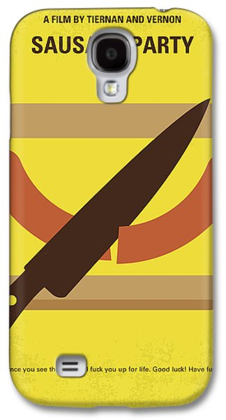 No704 My Sausage Party Minimal Movie Poster Galaxy S4 Case by Chungkong Art