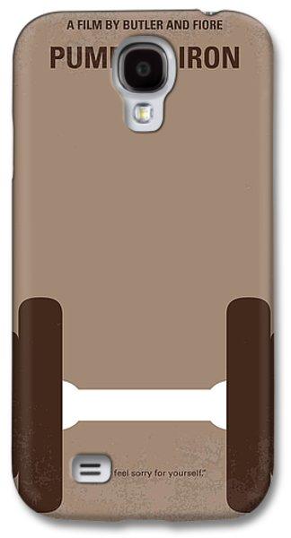 No707 My Pumping Iron Minimal Movie Poster Galaxy S4 Case by Chungkong Art