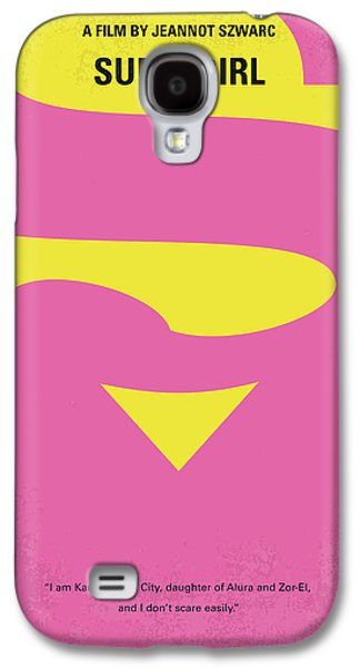 No720 My Supergirl Minimal Movie Poster Galaxy S4 Case by Chungkong Art
