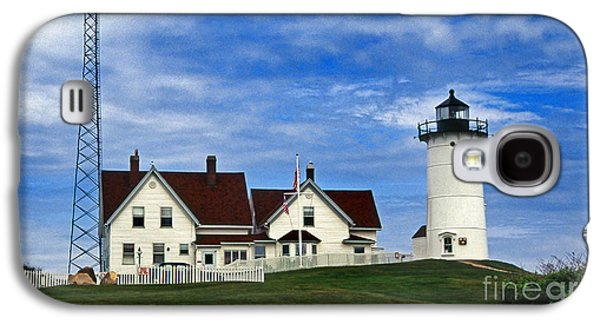 Beach Landscape Galaxy S4 Cases - Nobska Lighthouse Ma Galaxy S4 Case by Skip Willits