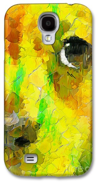 Puppy Digital Art Galaxy S4 Cases - Noise and Eyes in the colors Galaxy S4 Case by Stefano Senise