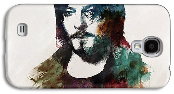 Walking Mixed Media Galaxy S4 Cases - Norman Reedus aka Daryl Dixon from The Walking Dead  Galaxy S4 Case by Marian Voicu