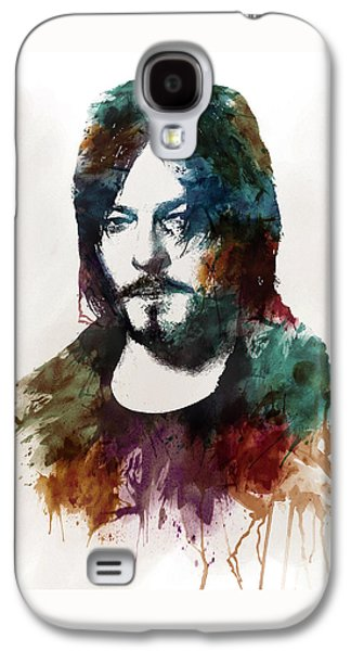 """""""square """" Mixed Media Galaxy S4 Cases - Norman Reedus aka Daryl Dixon from The Walking Dead  Galaxy S4 Case by Marian Voicu"""