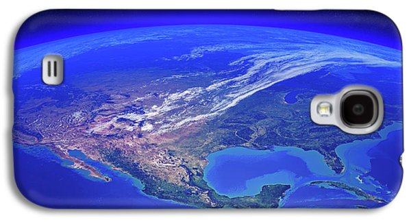 North America Seen From Space Galaxy S4 Case by Johan Swanepoel