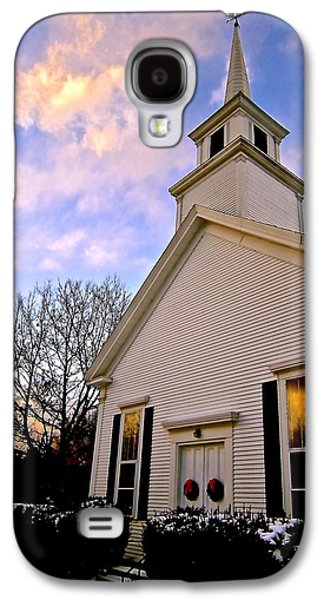Reflection Of Sun In Clouds Galaxy S4 Cases - North Country Church Galaxy S4 Case by Elizabeth Tillar