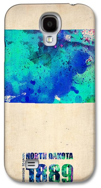 North Digital Galaxy S4 Cases - North Dakota Watercolor Map Galaxy S4 Case by Naxart Studio