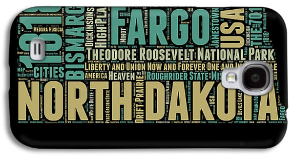 4th Of July Mixed Media Galaxy S4 Cases - North Dakota Word Cloud 1 Galaxy S4 Case by Naxart Studio