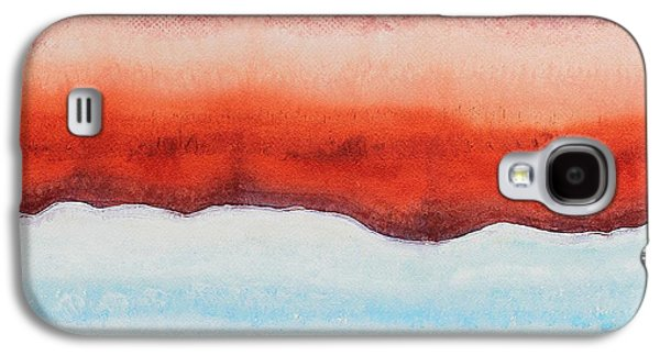 Nature Abstracts Galaxy S4 Cases - Northern Exposure original painting Galaxy S4 Case by Sol Luckman