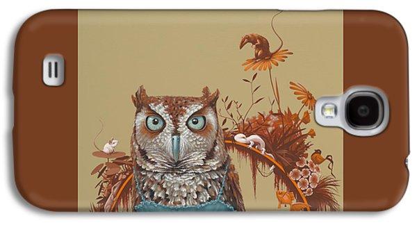 Northern Screech Owl Galaxy S4 Case by Jasper Oostland