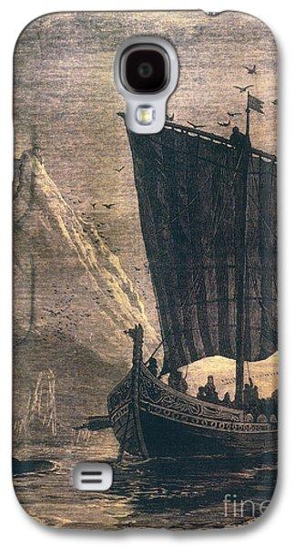 Ocean Sailing Galaxy S4 Cases - Norwegian Viking Longship Galaxy S4 Case by Granger