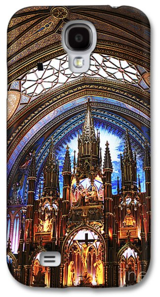 Old Montreal Galaxy S4 Cases - Notre Dame Ceiling Galaxy S4 Case by John Rizzuto
