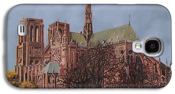 Universities Paintings Galaxy S4 Cases - Notre-Dame Galaxy S4 Case by Guido Borelli