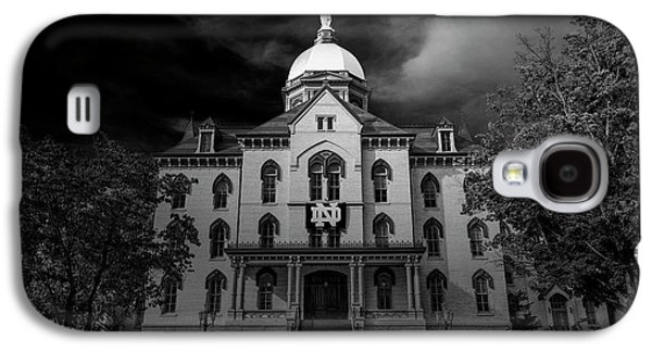 Notre Dame University Black White 3a Galaxy S4 Case by David Haskett