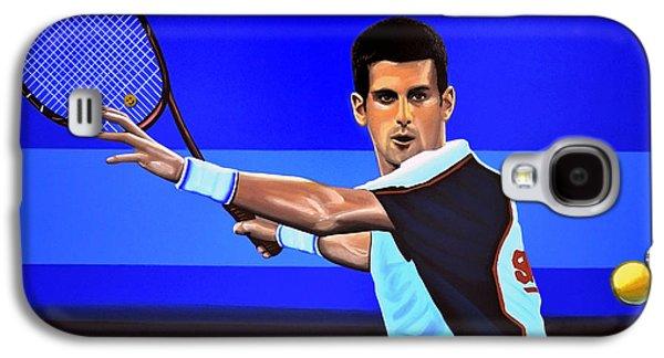Novak Djokovic Galaxy S4 Case by Paul Meijering