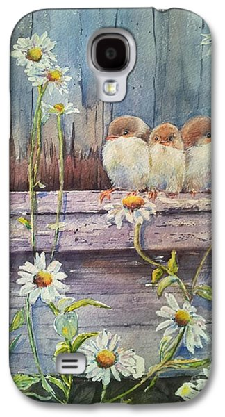 Baby Bird Galaxy S4 Cases - Now Where? Galaxy S4 Case by Patricia Pushaw