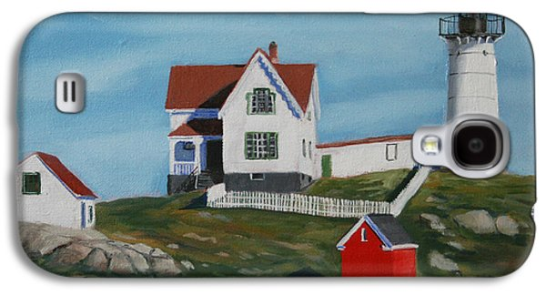 Maine Paintings Galaxy S4 Cases - Nubble Light House Galaxy S4 Case by Paul Walsh