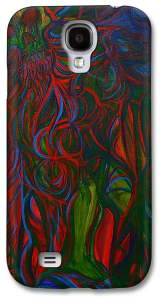 Corruption Paintings Galaxy S4 Cases - Nuclear Meltdown Galaxy S4 Case by Night Maher