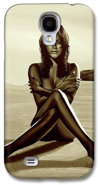 Nude Beach Beauty Sepia Galaxy S4 Case by Paul Meijering
