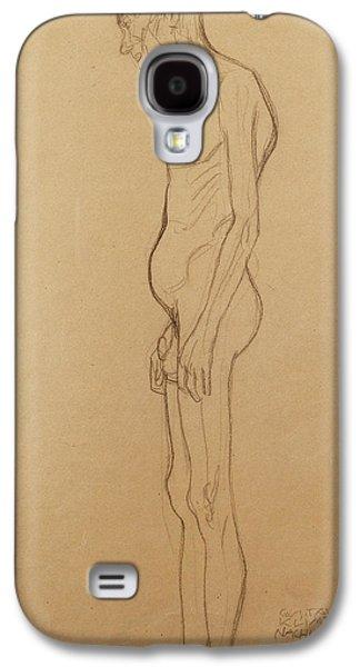 Nude Man Galaxy S4 Case by Gustav Klimt