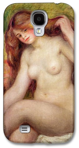 Hair-washing Galaxy S4 Cases - Nude Galaxy S4 Case by Renoir