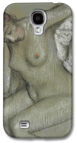 Bathroom Prints Galaxy S4 Cases - Nude Woman Drying Herself Galaxy S4 Case by Edgar Degas
