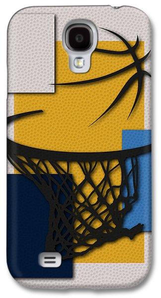 Dunk Galaxy S4 Cases - Nuggets Hoop Galaxy S4 Case by Joe Hamilton