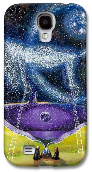 Constellations Paintings Galaxy S4 Cases - Nuit and the Seven Sisters Galaxy S4 Case by Shelley Irish