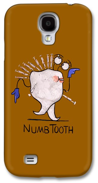 Shirt Digital Galaxy S4 Cases - Numb Tooth T-Shirt Galaxy S4 Case by Anthony Falbo