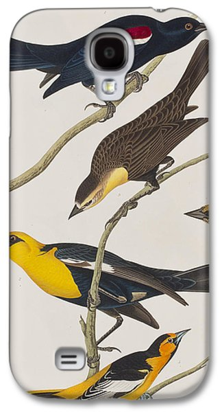 Nuttall's Starling Yellow-headed Troopial Bullock's Oriole Galaxy S4 Case by John James Audubon