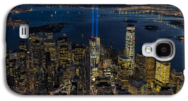 Wtc 11 Galaxy S4 Cases - NYC 911 Tribute In Lights Galaxy S4 Case by Susan Candelario