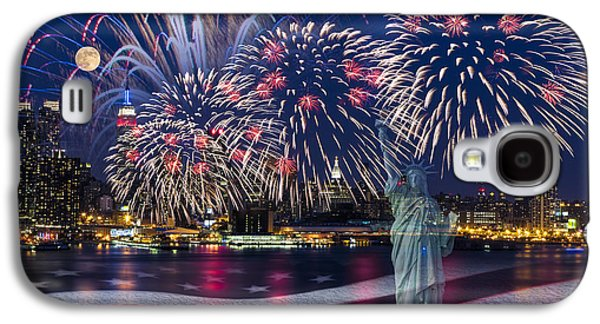 Recently Sold -  - 4th July Galaxy S4 Cases - NYC Fourth Of July Celebration Galaxy S4 Case by Susan Candelario