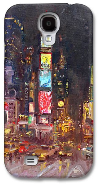 Nyc Times Square Galaxy S4 Case by Ylli Haruni