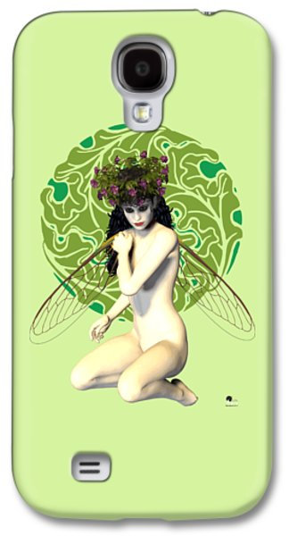 Girl Galaxy S4 Cases - Nymph Art Nouveau Galaxy S4 Case by Joaquin Abella