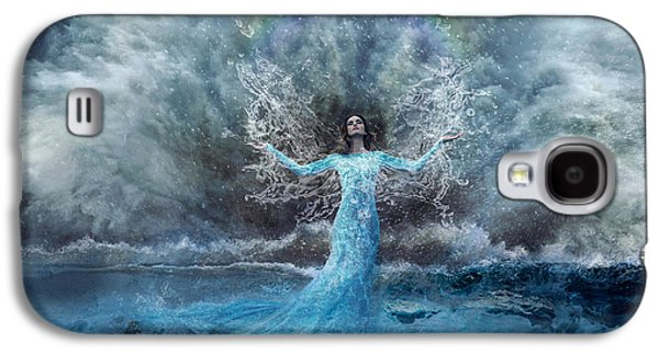 Storm Prints Mixed Media Galaxy S4 Cases - Nymph of  the Water Galaxy S4 Case by Lilia D