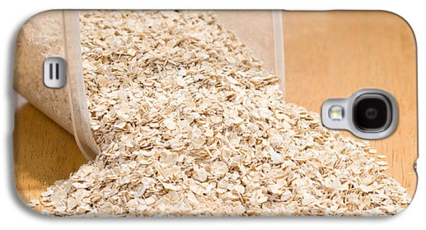 Porridge Galaxy S4 Cases - Oat Flakes Spilled Out Of Plastic Container  Galaxy S4 Case by Arletta Cwalina