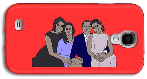 Barack Obama Galaxy S4 Cases - Obama Family Galaxy S4 Case by Priscilla Wolfe
